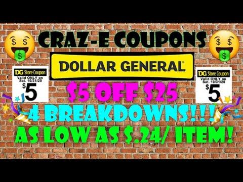 🤑$.24/ ITEM!!🤑DOLLAR GENERAL COUPONING THIS WEEK 10/31🤑$5 OFF $25 SCENARIOS🤑