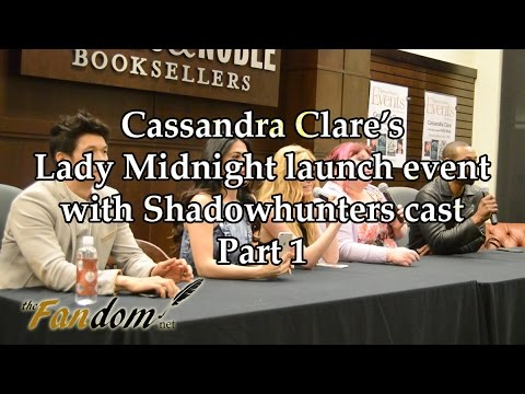 Lady Midnight launch event | Q&A with Cassandra Clare and Shadowhunters cast, part 1