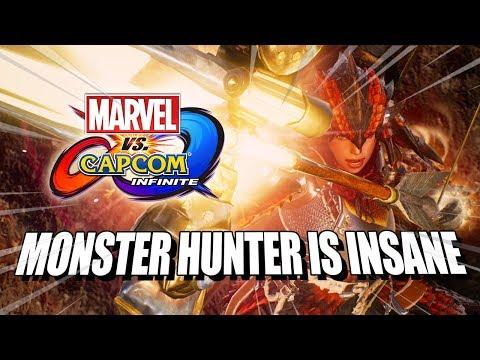 MONSTER HUNTER IS INSANE - Marvel Vs. Capcom Infinite: Online Matches