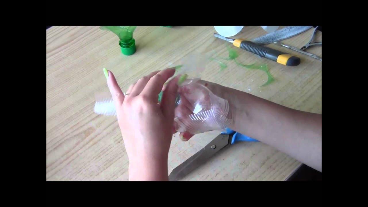 Как из пластиковых бутылок сделать цветы видео