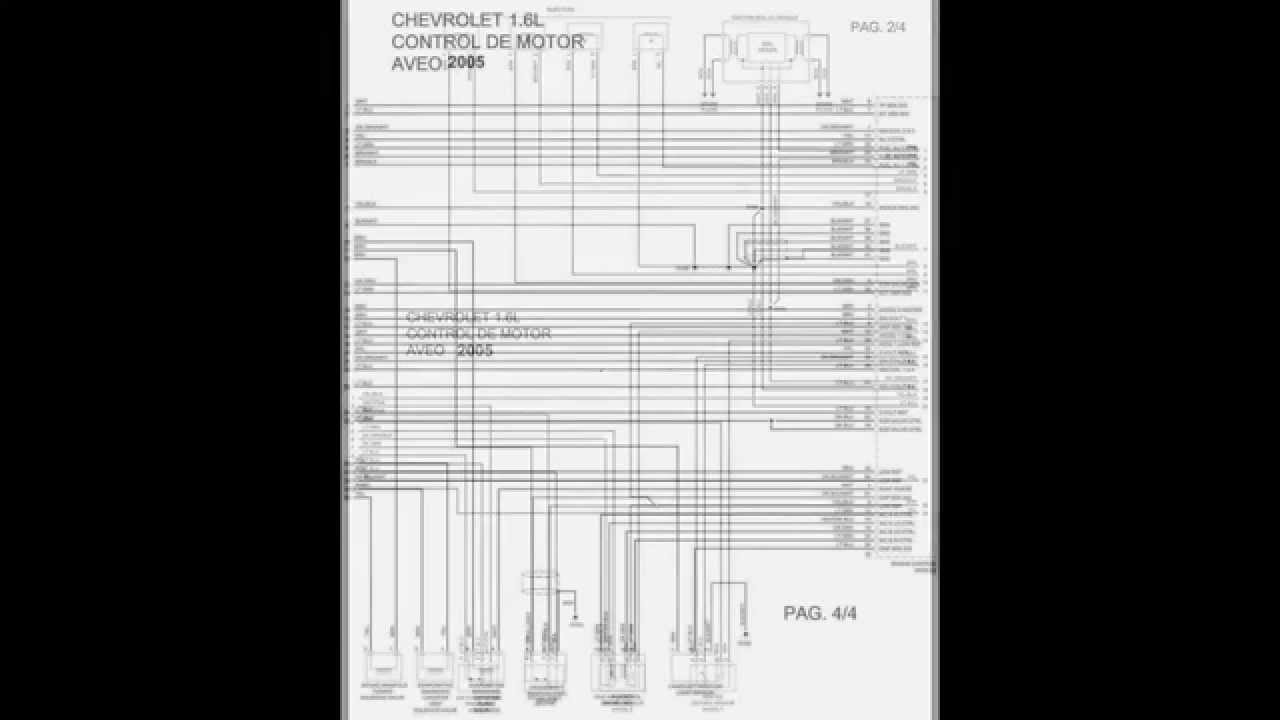 DIAGRAMAS ELECTRICOS CHEVROLET AVEO 1.6 2005 - YouTube