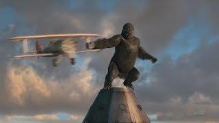 """Кинг-Конг против самолетов на небоскребе - """"Кинг-Конг"""" отрывок из фильма"""