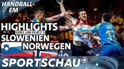 Spiel um Platz 3: Slowenien gegen Norwegen | Highlights | Handball-EM | Sportschau