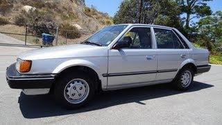 Mazda 323 Familia Video DX BD AP GLC Start Up & Test Drive 1 Owner 55K Orig Mi 1.6i Review