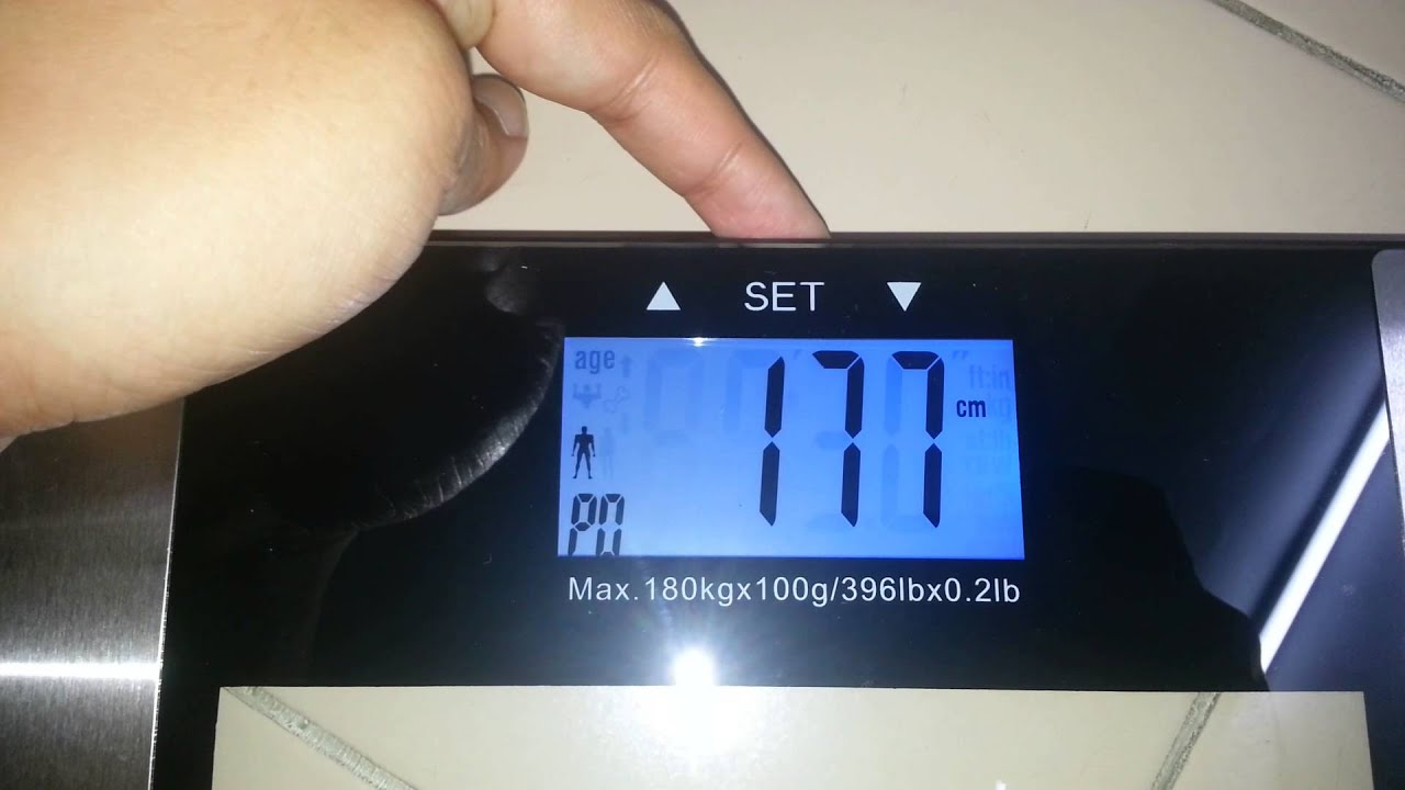 Setup For Digital Weighing Scale Body Fathydrationwatermuscle