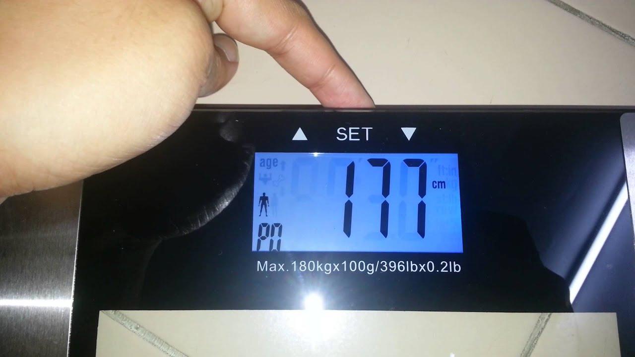 Setup for Digital Weighing ScaleBody FatHydrationWater