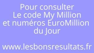 Code My Million d' EuroMillion. Dès 20h45 , Mardi et Vendredi