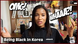 black in korea staring touching privileges???