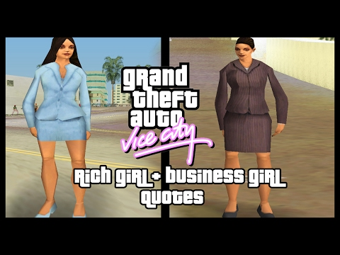 GTA Vice City : Pedestrian Quotes Business Girl & Rich Girl