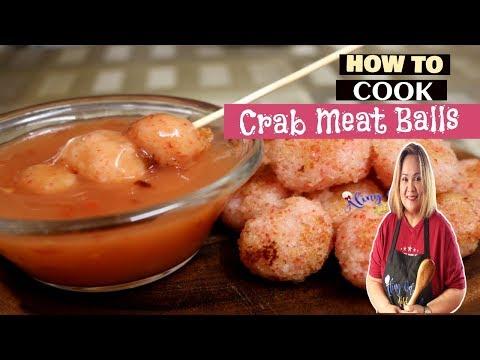 Crab Balls With Sweet Chilli Sauce YUMMY!!