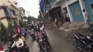 Bike Ralley in Biratnagar on the issue of Nepal constitution - 2072