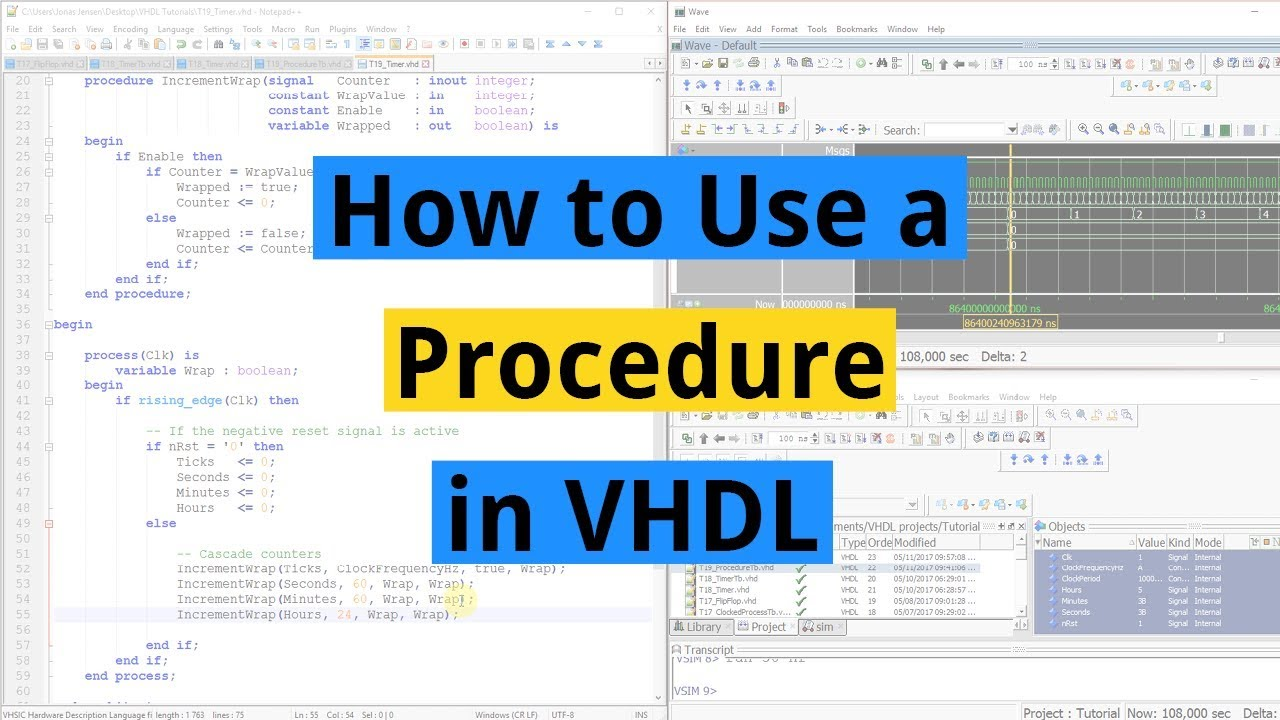 How to use a Procedure in VHDL - VHDLwhiz