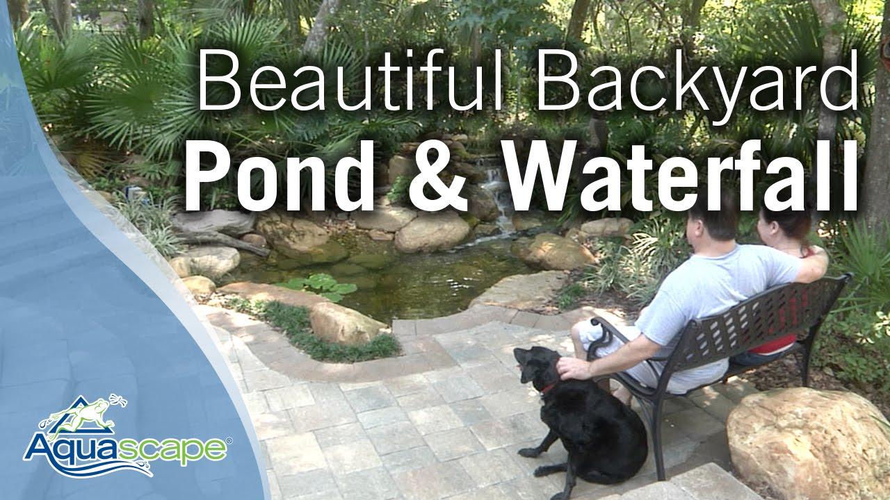 Backyard Ponds Waterfalls Pictures beautiful backyard pond & waterfall - youtube