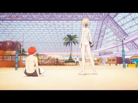 Fate - Partido Voley | Saber & Shirou VS Archer & Lancer