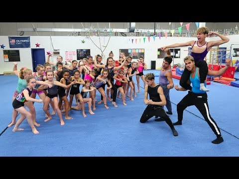 Thumbnail: GIRLS vs. GUYS GYMNASTICS WAR!