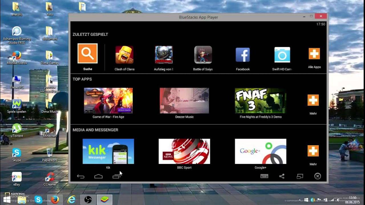 Bluestacks Android Auf Dem Pc Mac German Deutsch Youtube