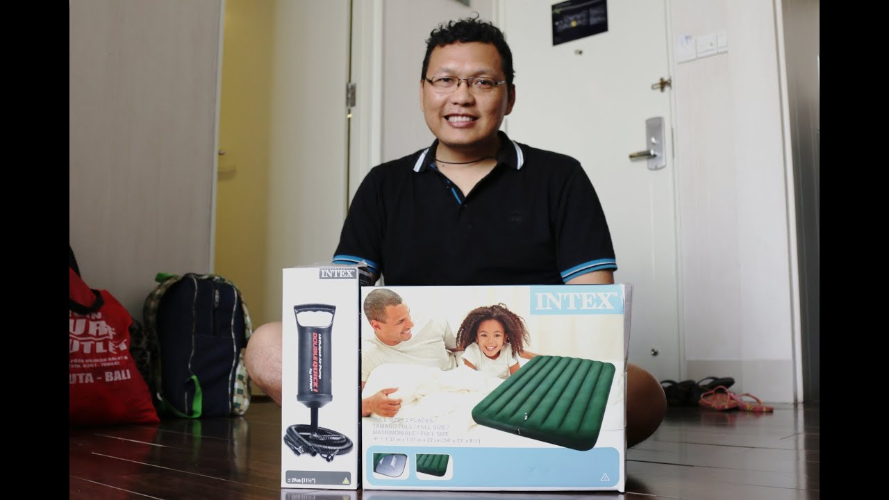 Kasur Angin Pompa Intex Unboxing Youtube
