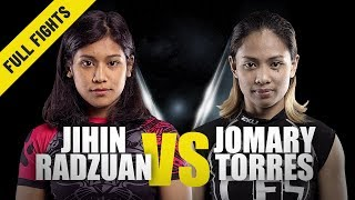 Jihin Radzuan vs. Jomary Torres   ONE Full Fight   Strong Submission   July 2019