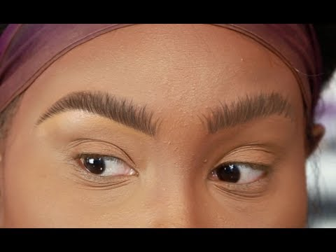 Brow Hair Stroke Technique! Step By Step Instructions