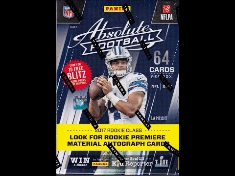 f7fde1e57ea 2017 Panini Absolute Football Checklist, Team Sets, Details, Release Date
