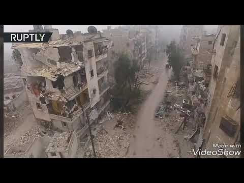 Aleppo 2017: Ghost town after battle - US/Russian airstrikes on ISIS