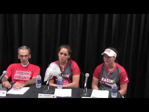 Ragin' Cajuns Softball Post Game Presser 5/21/16 Lafayette Regional Winners Bracket Final