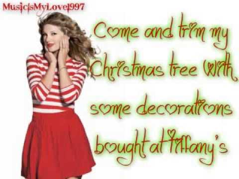 Taylor Swift- Santa Baby (Lyrics)