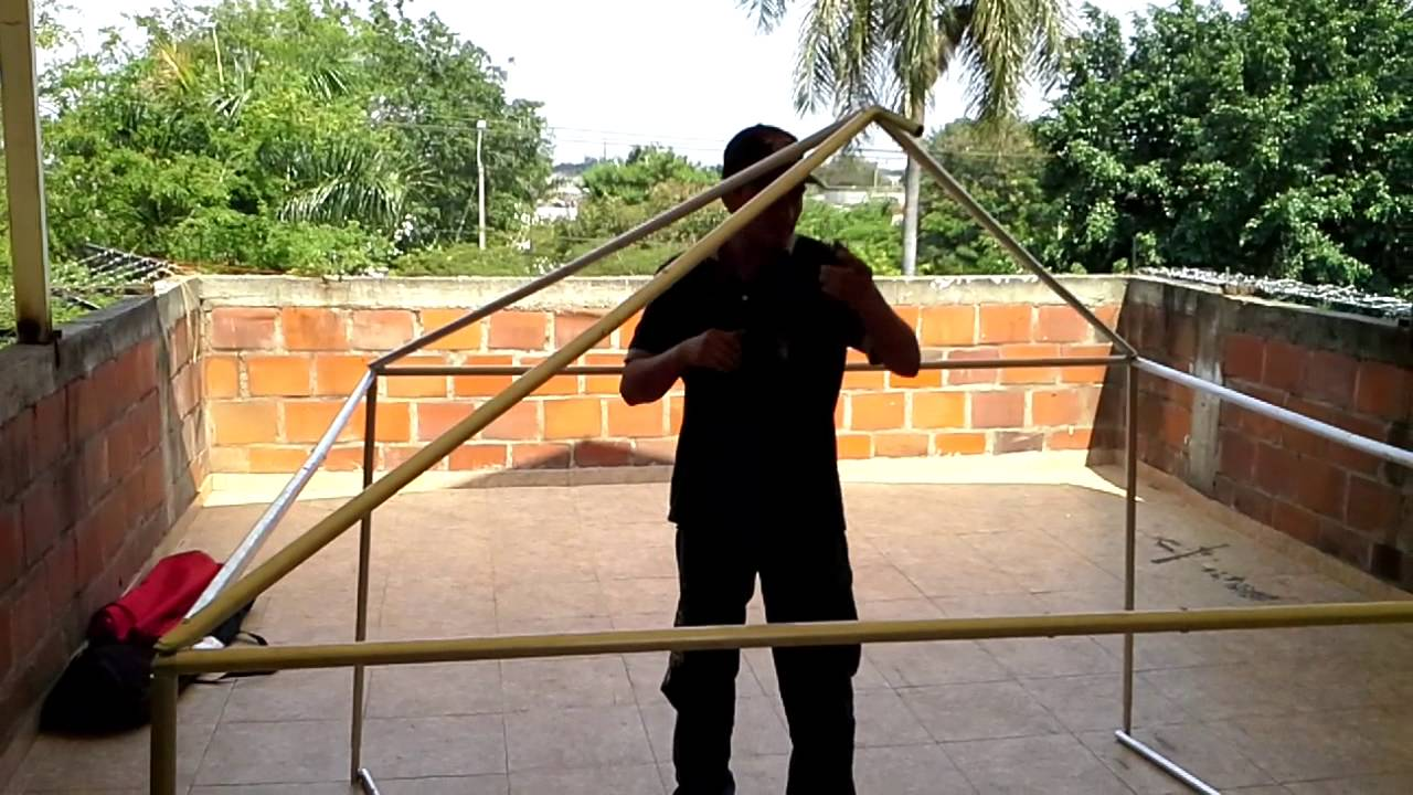 Toldo portatil desarmable youtube for Estructuras para toldos