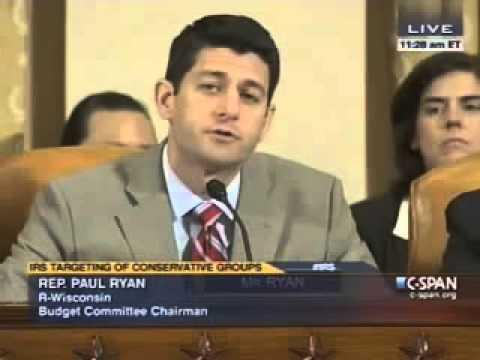 Paul Ryan BLASTS Jim McDermott At IRS Hearing