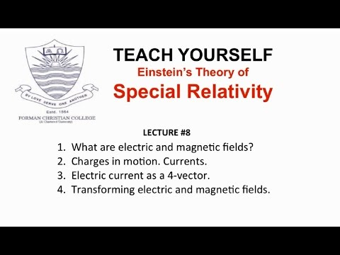 Lecture 8: Relativity and Electromagnetism (Special Relativity - English) | Pervez Hoodbhoy