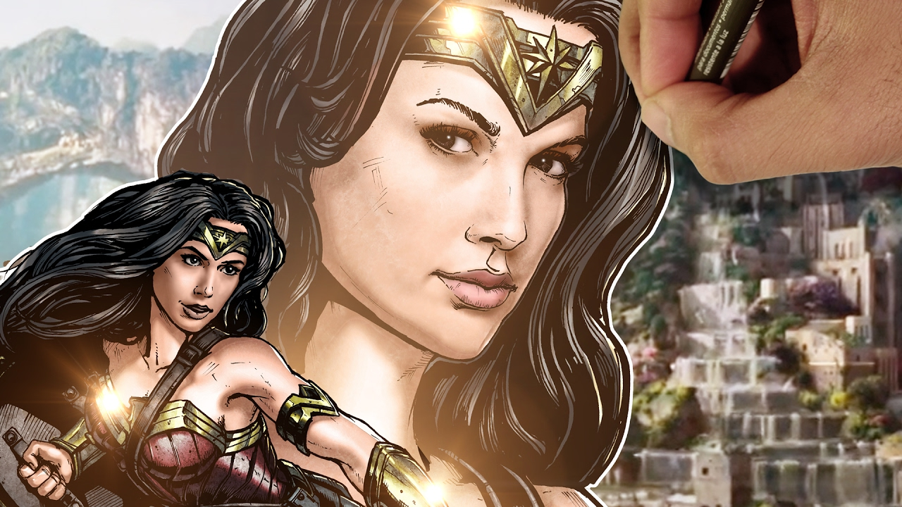 Drawing Wonder Woman In Full Color Youtube