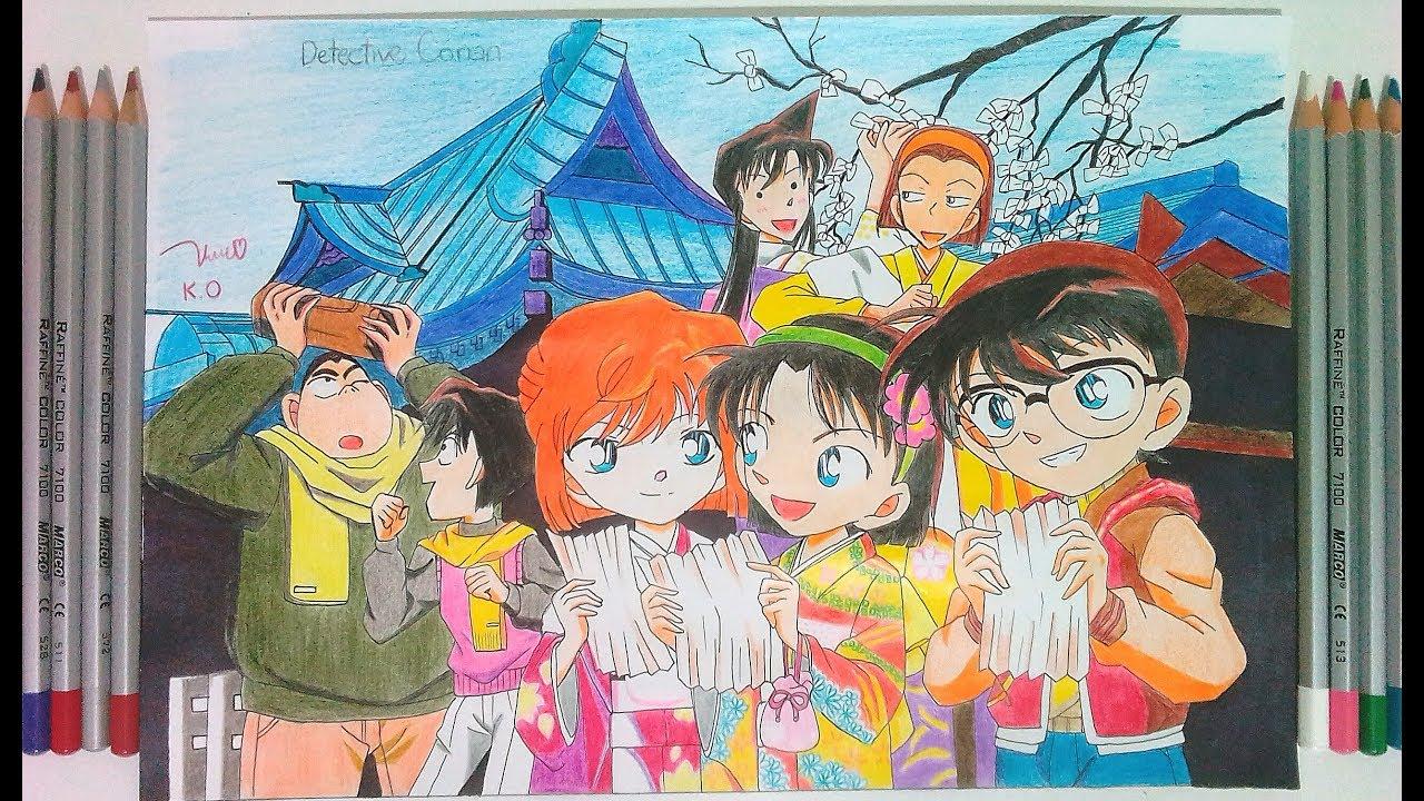 Detective Conan [Vẽ Thám tử lừng danh Conan] Speed Drawing – Coloured Pencil