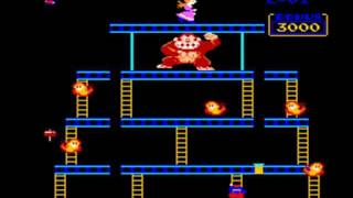 Donkey Kong (Original) Full Playthrough (US Arcade Version)