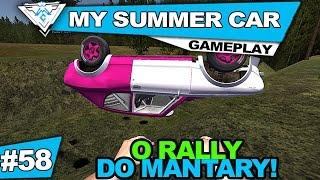 MY SUMMER CAR COOP #58 - O RALLY DO MANTARY E A FATALIDADE! / 1080p PT-BR