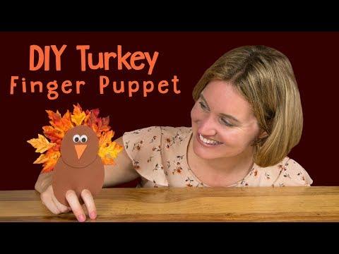 DIY Turkey Finger Puppet   Thanksgiving Craft For Kids