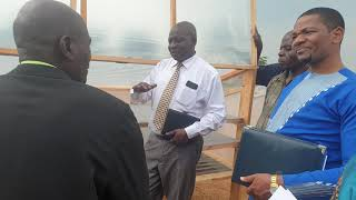 Explaining how the solar driers developed by #youth work in the #BugandaKingdom cassava agro-industr
