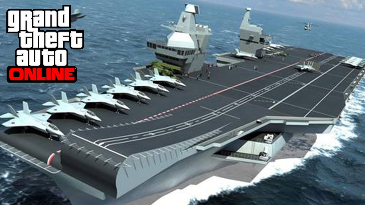 GTA Online How To Get The HYDRA AIRCRAFT CARRIER In GTA - Location of us aircraft carriers map