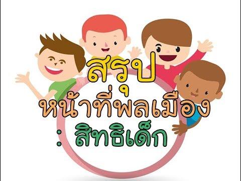 O-NET สังคม ครูเดช หน้าที่พลเมือง : สิทธิเด็ก