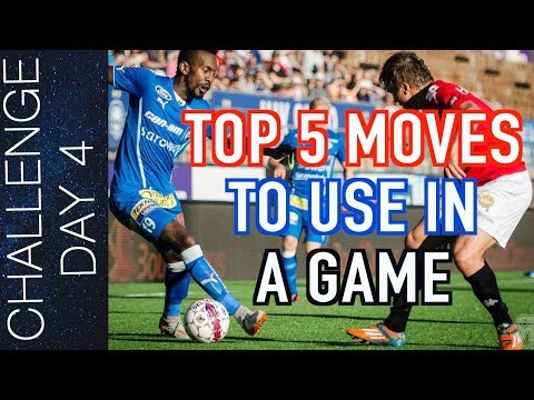 TOP 5 EASY MOVES TO BEAT DEFENDERS – SKILLS  YOU CAN USE IN A GAME – SOCCER DRIBBLING SKILLS  Day 4