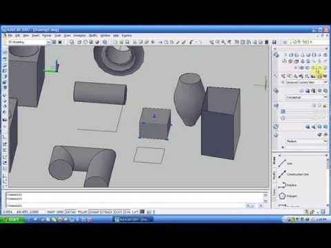 Bài 1 Hướng dẫn sử dụng Autocad 3D