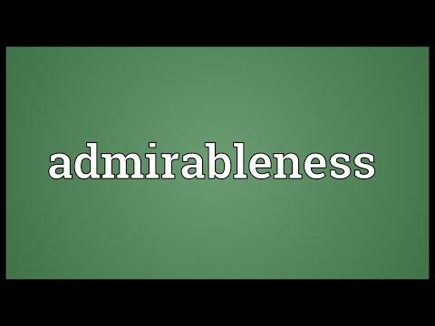 Header of admirableness