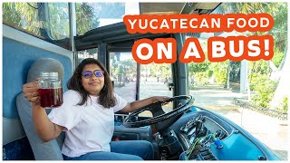 9 course Yucatecan meal on a Bus  | Gastrobus Food Tour | Things to eat in Merida