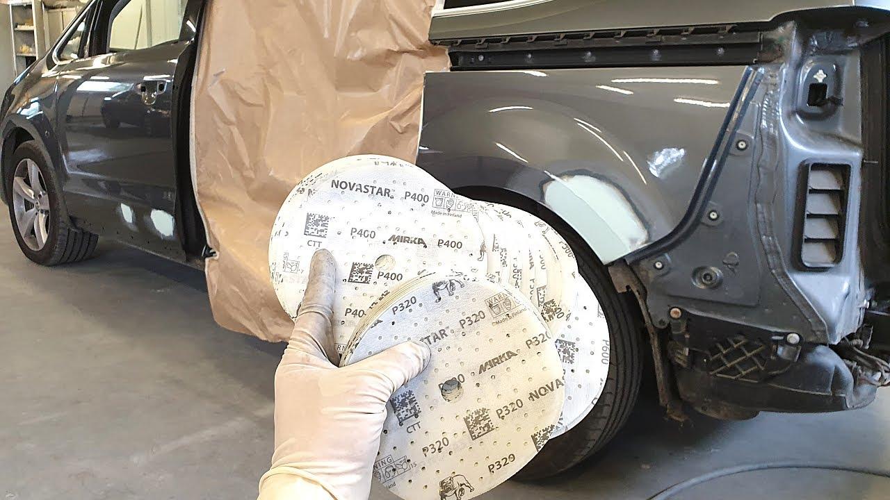 Repair car body | Prep a car for primer | Mirka NOVASTAR | Putty Roberlo | Ремонт кузова