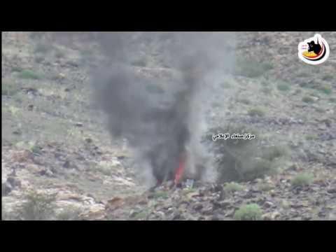 فيديو : إحراق طقم للحوثيين يحمل ذخائر في جبهة نهم شرق صنعاء