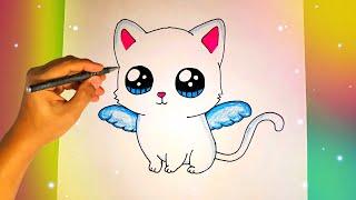Как нарисовать КОТА С КРЫЛЬЯМИ? Лёгкие рисунки для срисовки