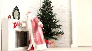 Костюм Деда Мороза «Рубин с крупным узором»