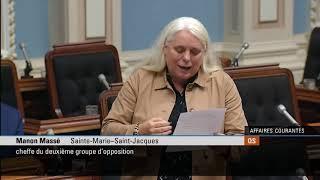 Déclaration de Manon Massé sur la Journée de l'Alternative en santé mentale