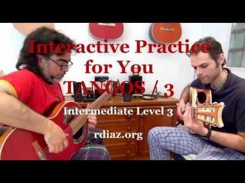 Interactive practice for you / Flamenco lesson 3 por Tangos / Ruben Diaz Spain