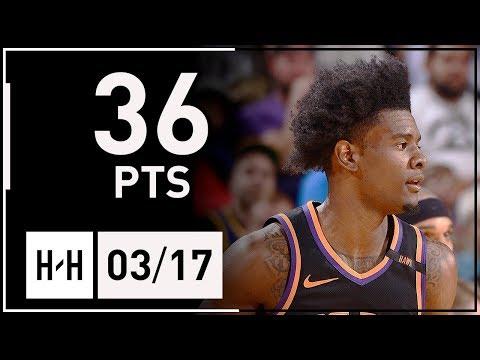 Josh Jackson Full Career-HIGH Highlights Suns vs Warriors (2018.03.17) - 36 Points!