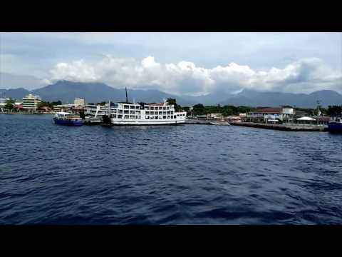 View over Dumaguete from the ferry to Siquijor Philippines